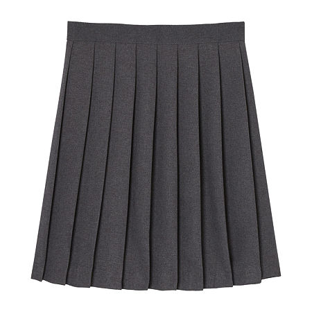 French Toast Little & Big Girls Pleated Skirt, 14.5 Plus , Gray