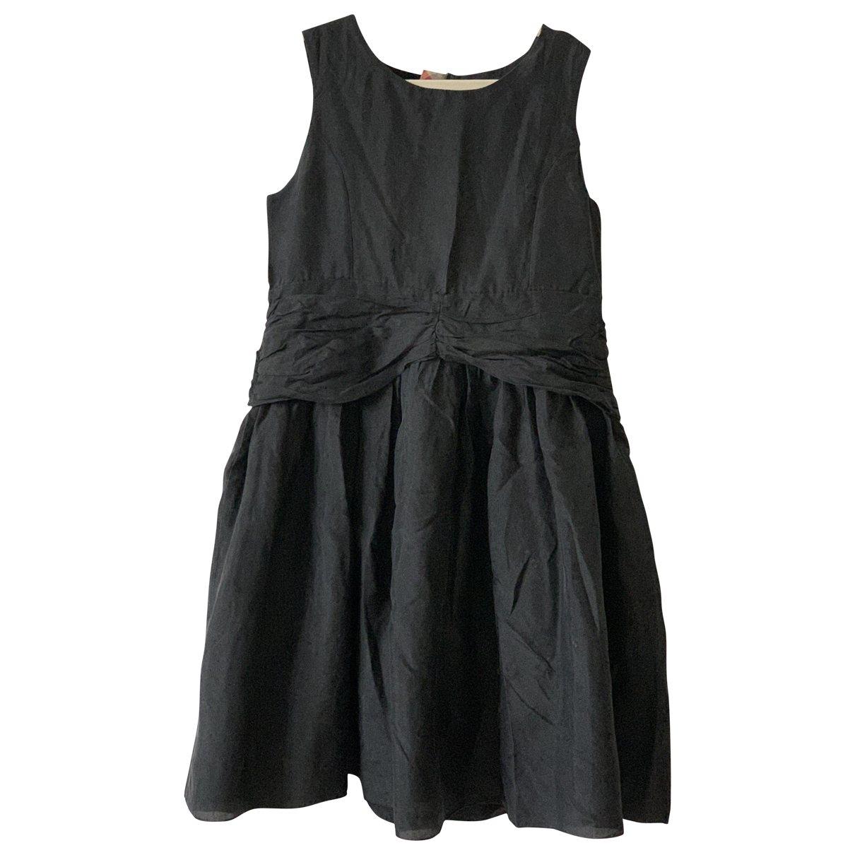 Burberry - Robe    pour enfant en soie - noir