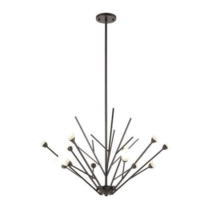 18278/12 Ocotillo 12-Light Chandelier in Oil Rubbed Bronze with Frosted