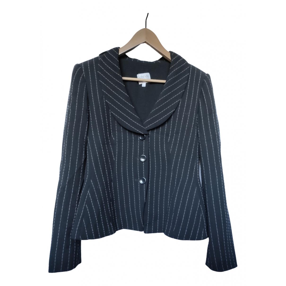 Armani Collezioni \N Black Wool jacket for Women 44 IT