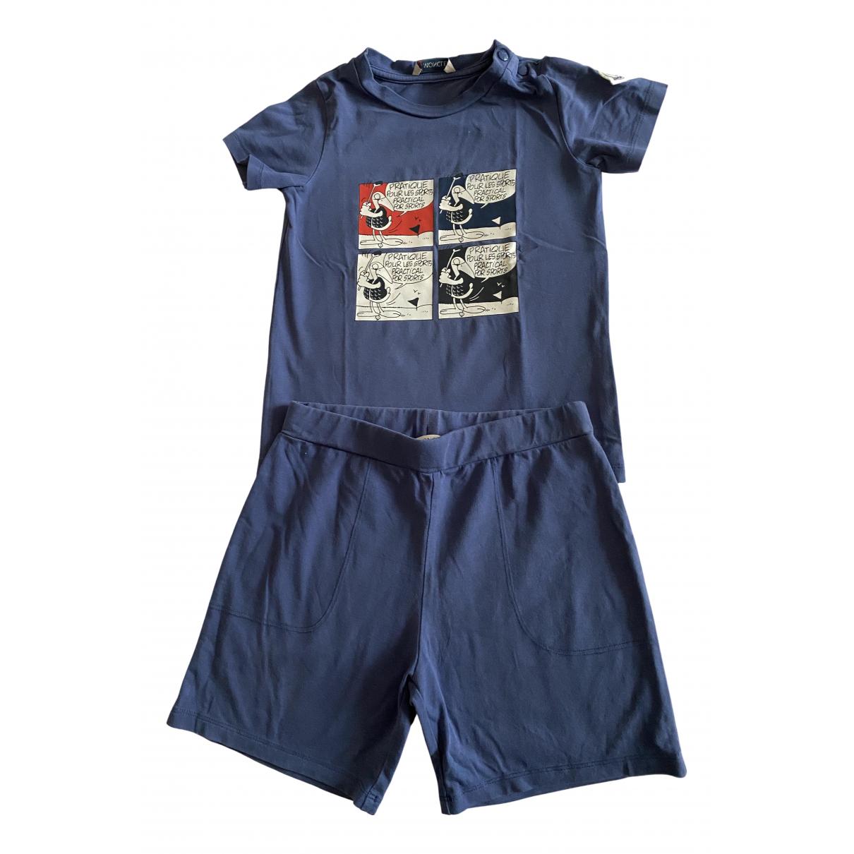 Moncler - Les ensembles   pour enfant en coton - bleu