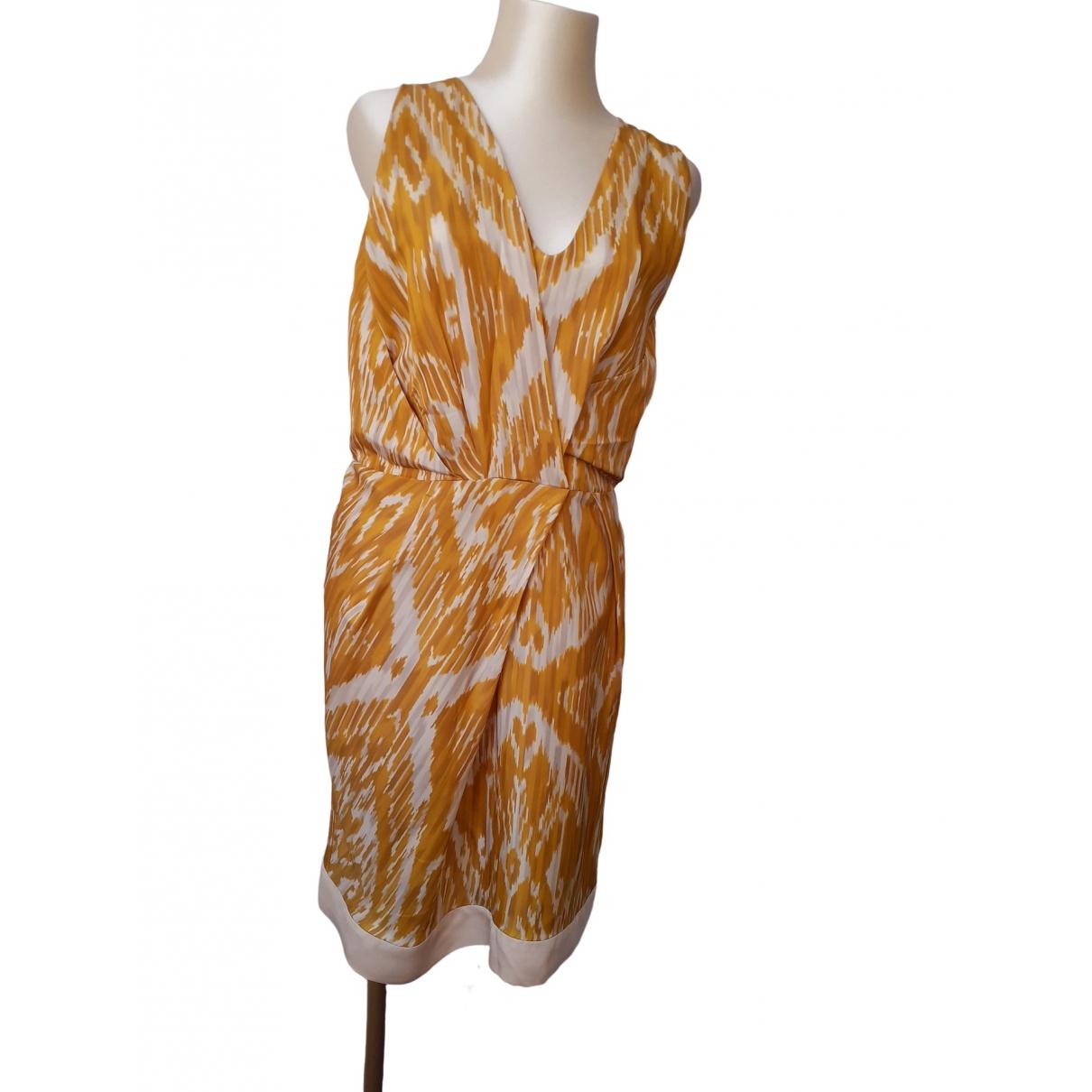Dries Van Noten - Robe   pour femme en soie - jaune
