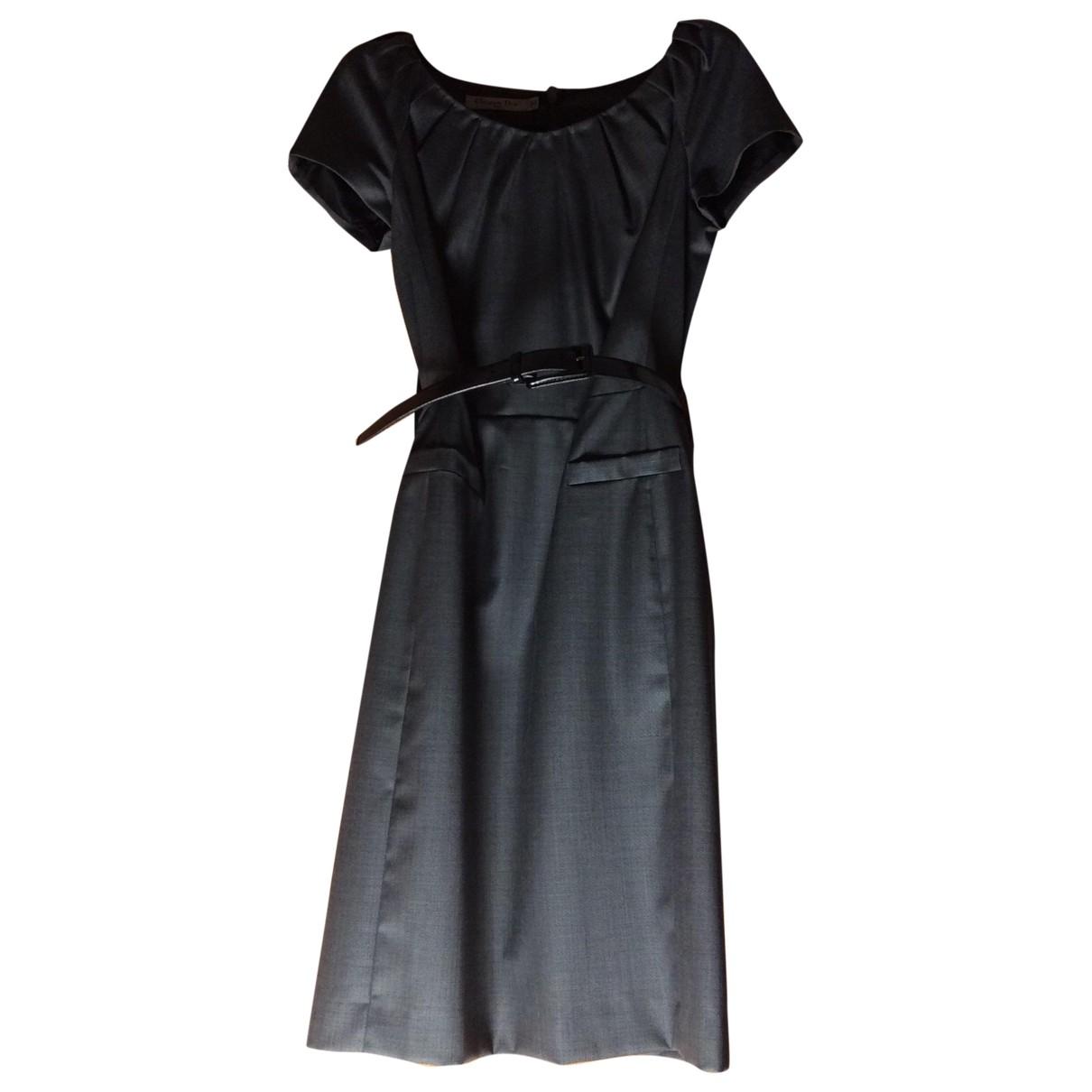 Dior - Robe   pour femme en laine - gris
