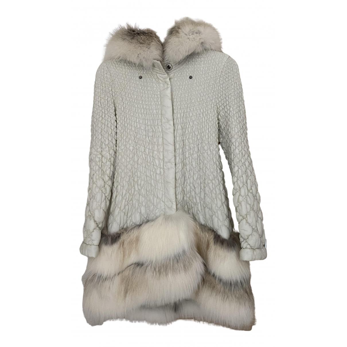 Ermanno Scervino N White Fox coat for Women 42 IT