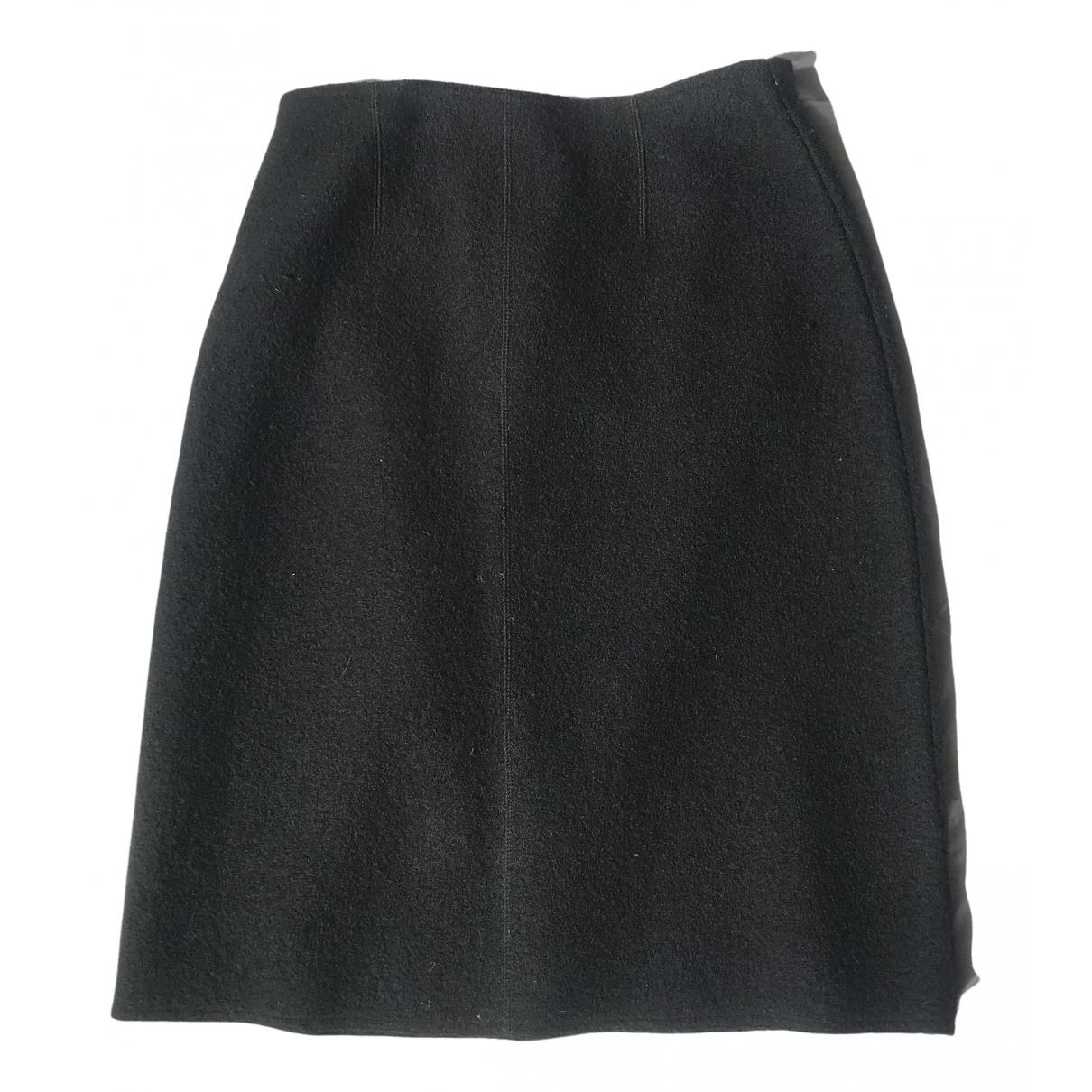 Non Signé / Unsigned \N Black Wool skirt for Women 40 FR