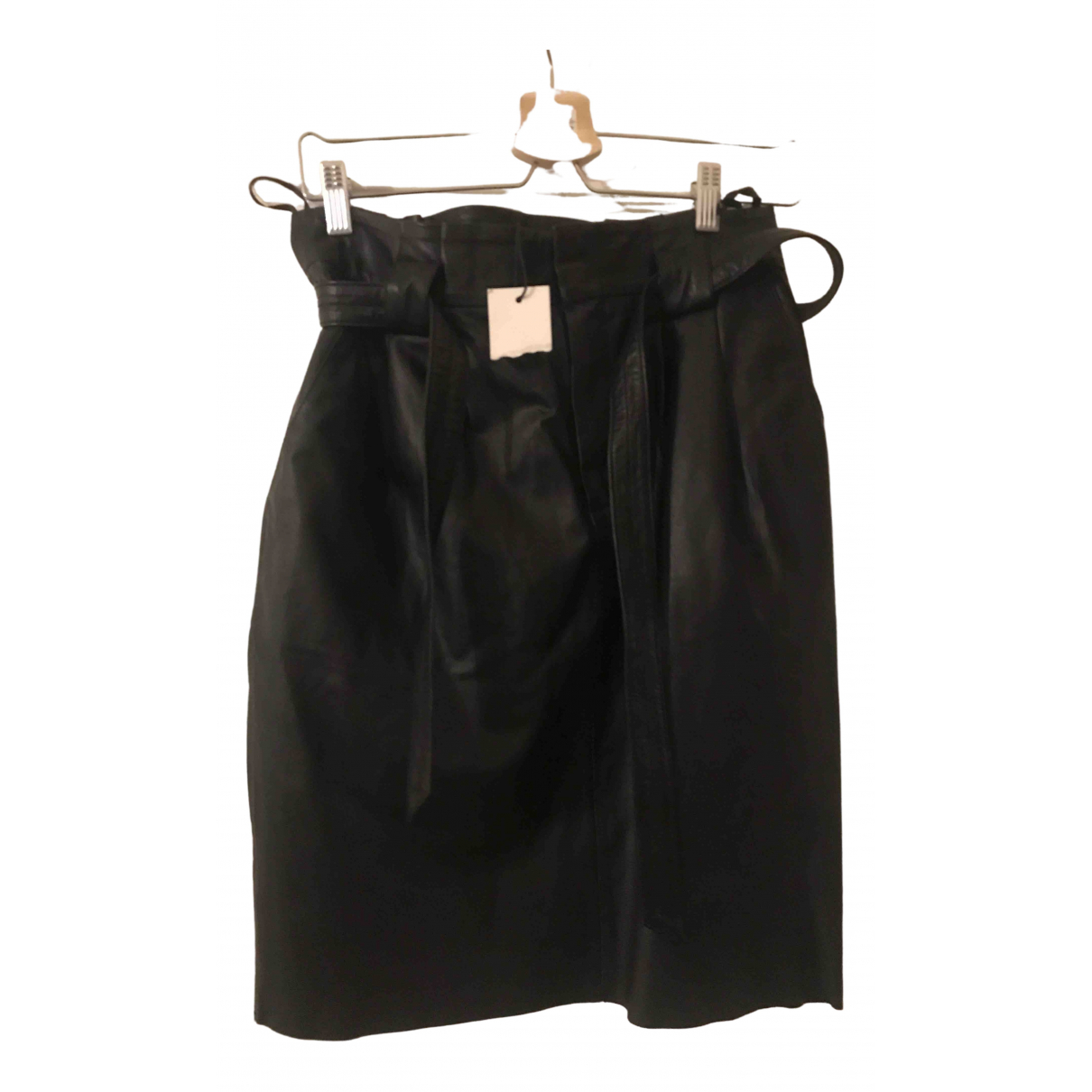 Set \N Black Leather skirt for Women 36 FR