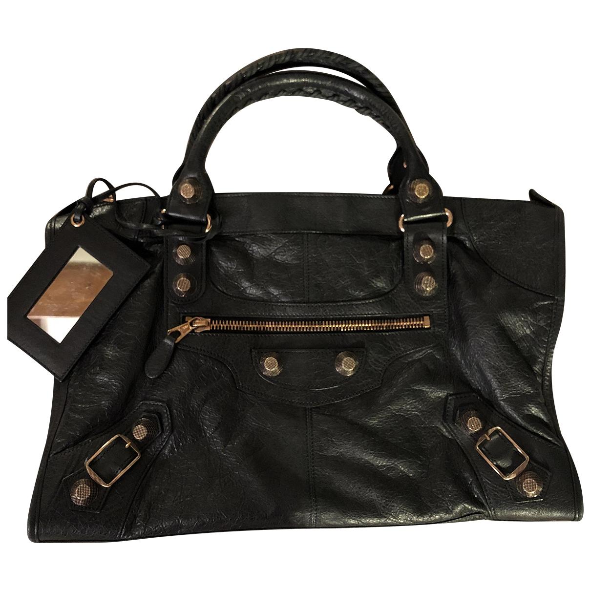 Balenciaga - Sac a main Work pour femme en cuir - noir