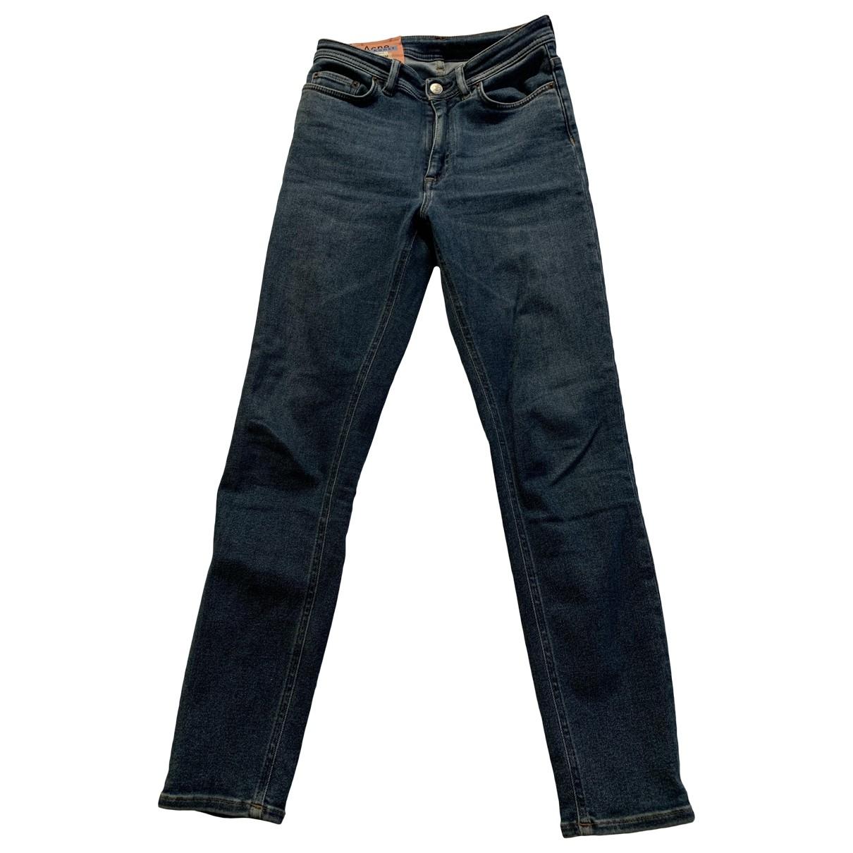 Acne Studios \N Blue Denim - Jeans Jeans for Women 36 FR