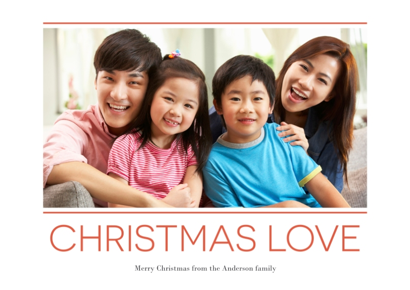 Christmas Photo Cards 5x7 Cards, Premium Cardstock 120lb, Card & Stationery -Loving Christmas