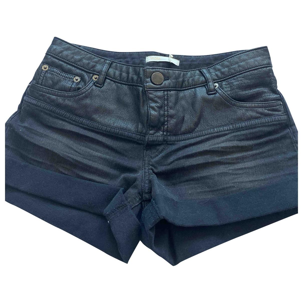Maje Fall Winter 2019 Black Cotton Shorts for Women 36 FR