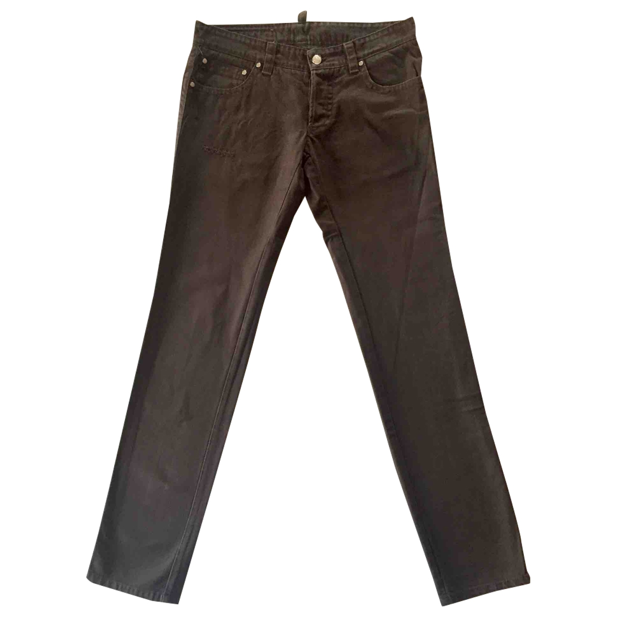 Dsquared2 \N Brown Denim - Jeans Trousers for Men 46 IT