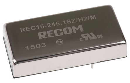 Recom REC15 15W Isolated DC-DC Converter Through Hole, Voltage in 18 → 36 V dc, Voltage out 5V dc Medical