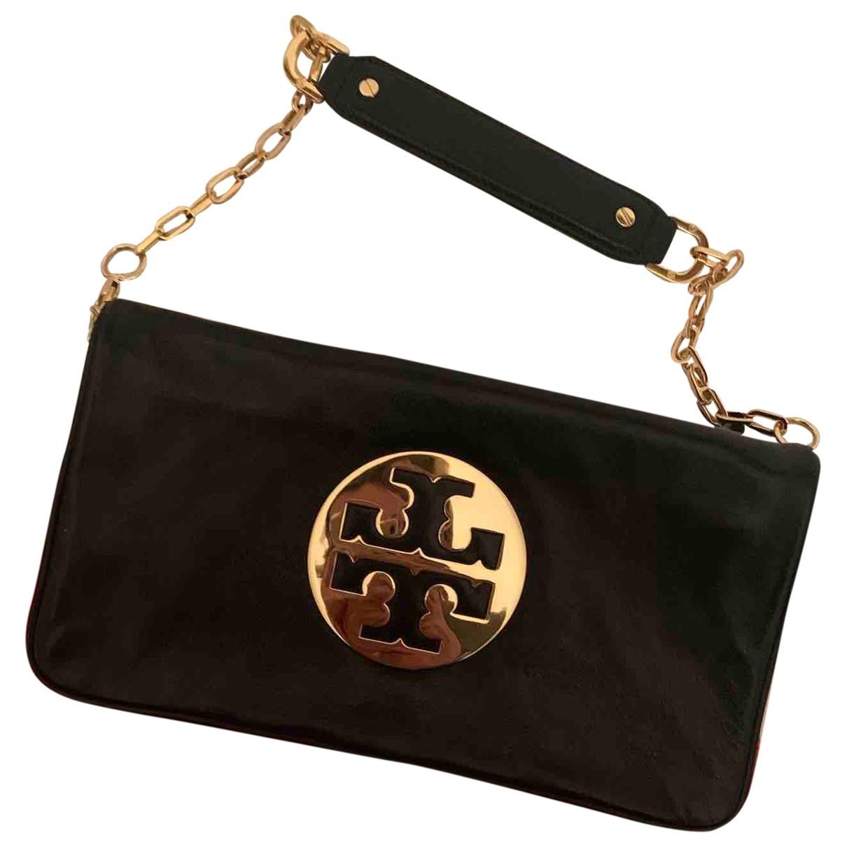 Tory Burch \N Black Leather Clutch bag for Women \N