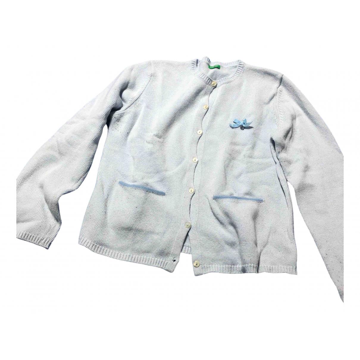 Benetton - Pull   pour enfant en laine - turquoise