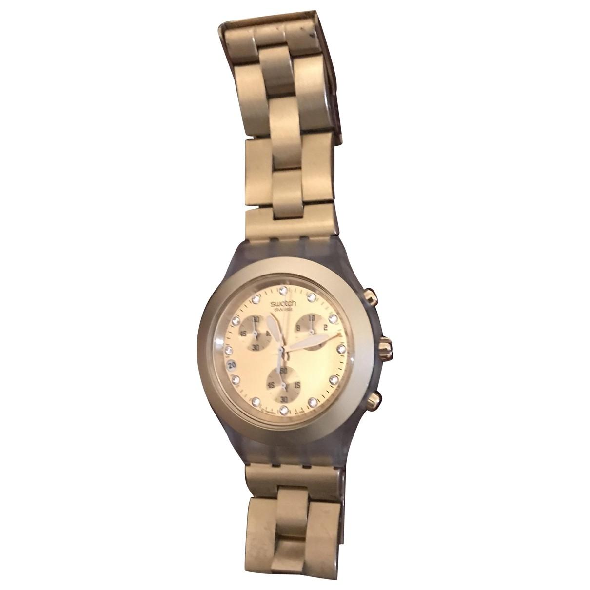 Swatch \N Gold Steel watch for Women \N