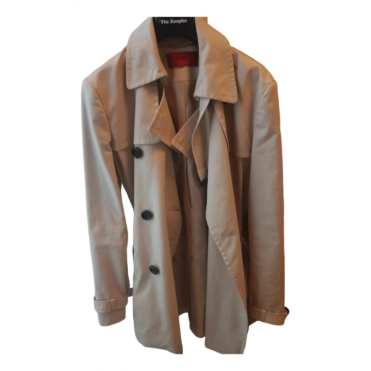 Hugo Boss - Manteau   pour femme en coton - beige