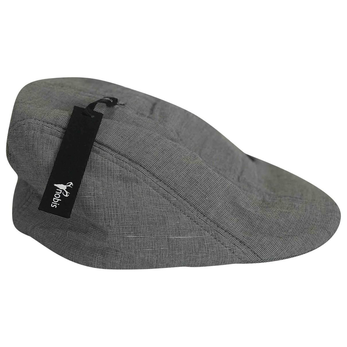 Nobis \N Grey Linen hat & pull on hat for Men M International