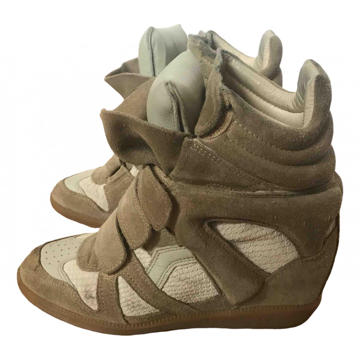 Isabel Marant - Baskets Beckett pour femme en cuir - beige