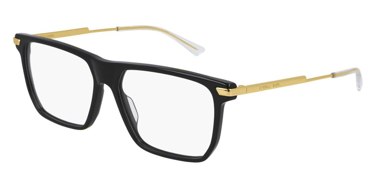 Bottega Veneta BV 1071O 001 Mens Glasses Gold Size 56 - Free Lenses - HSA/FSA Insurance - Blue Light Block Available