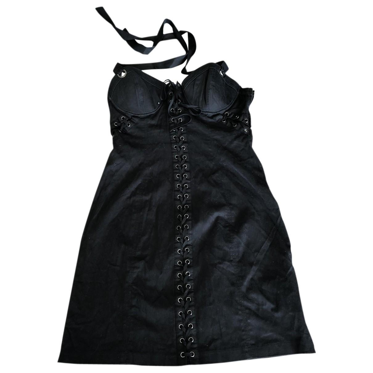 Guess \N Kleid in  Schwarz Baumwolle