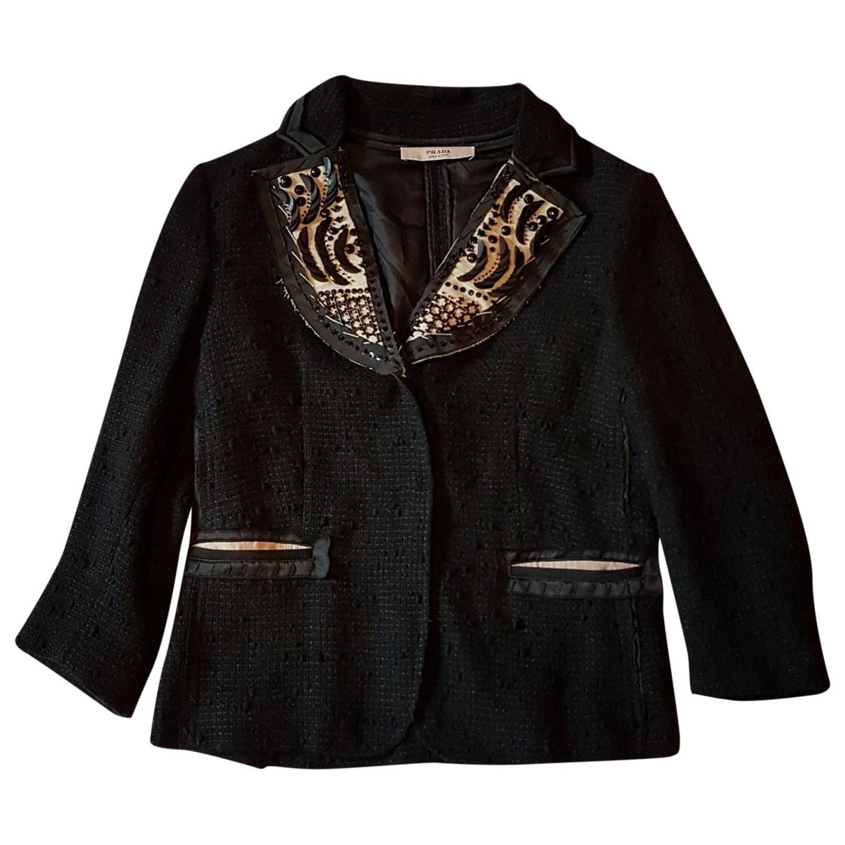 Prada \N Black Wool jacket for Women 40 IT