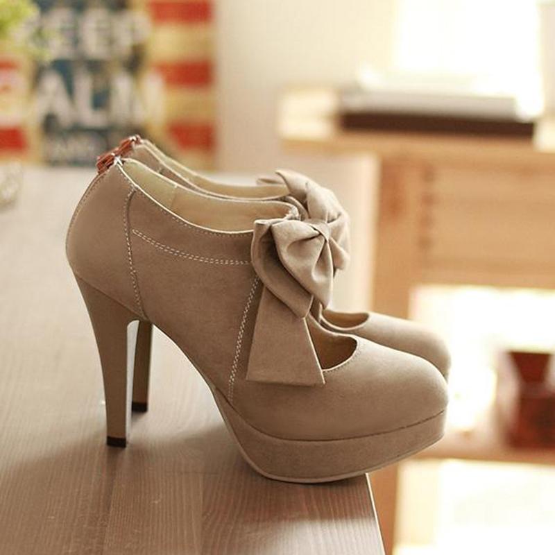 Ericdress Popular Bowtie Decoration High Heel Boots