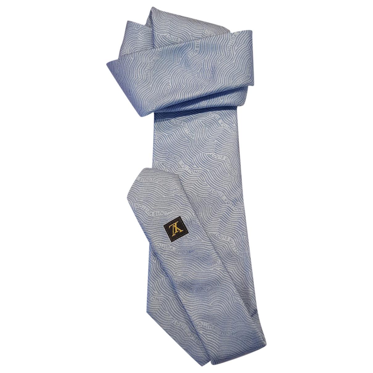 Louis Vuitton - Cravates   pour homme en soie - bleu