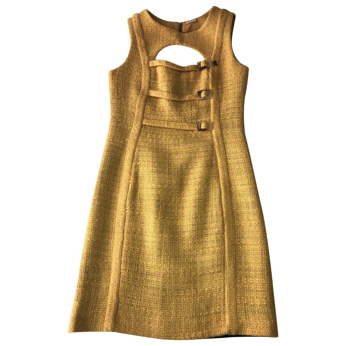 Galliano \N Kleid in  Gelb Wolle