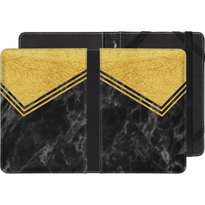 Sony Reader PRS-T2 eBook Reader Huelle - Gold Marble von caseable Designs