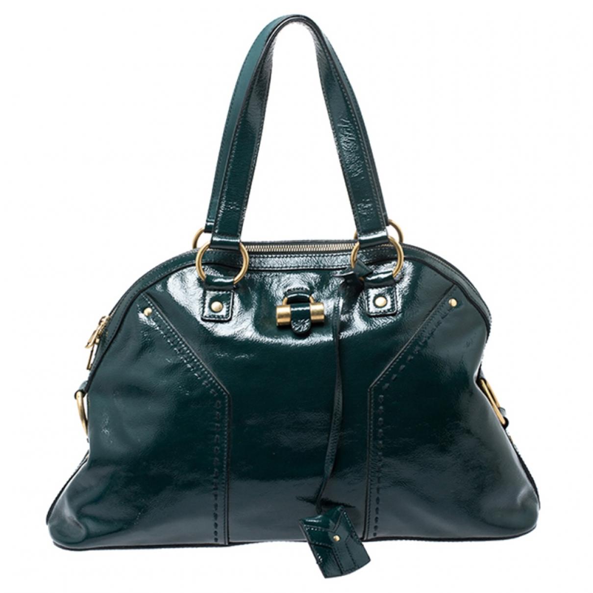 Saint Laurent \N Green Leather handbag for Women \N