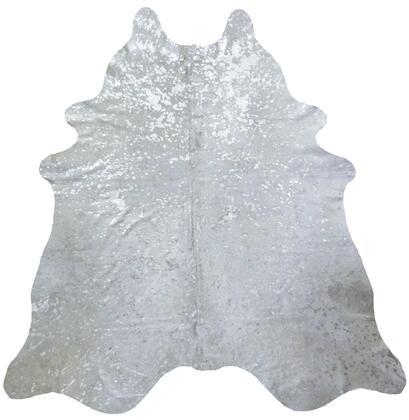 334408 6' Silver Devore Brindled Cowhide