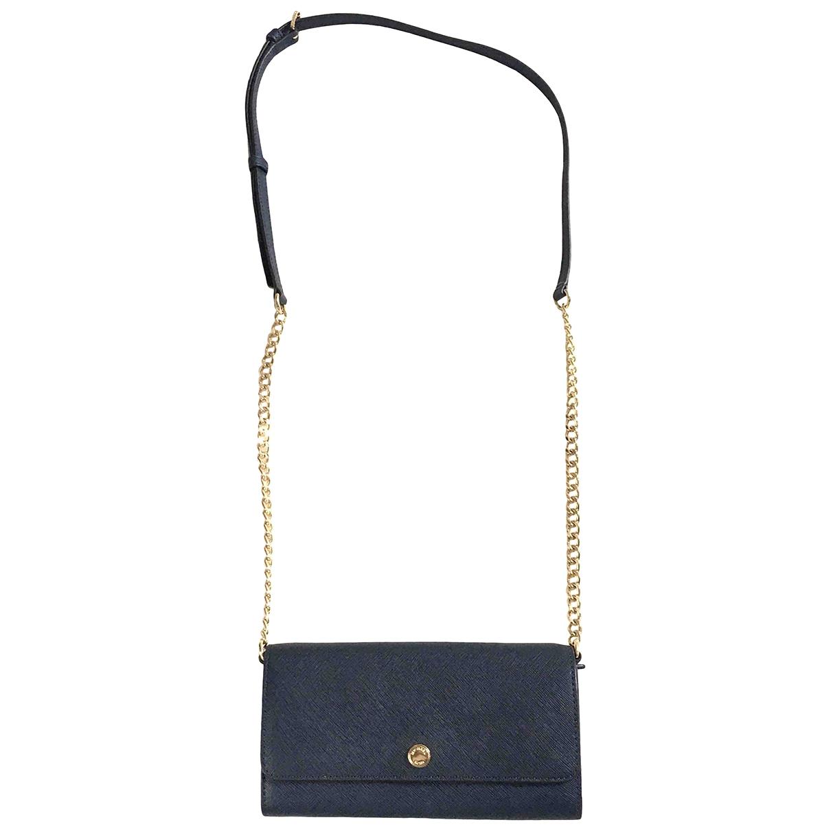 Michael Kors \N Navy Leather Clutch bag for Women \N
