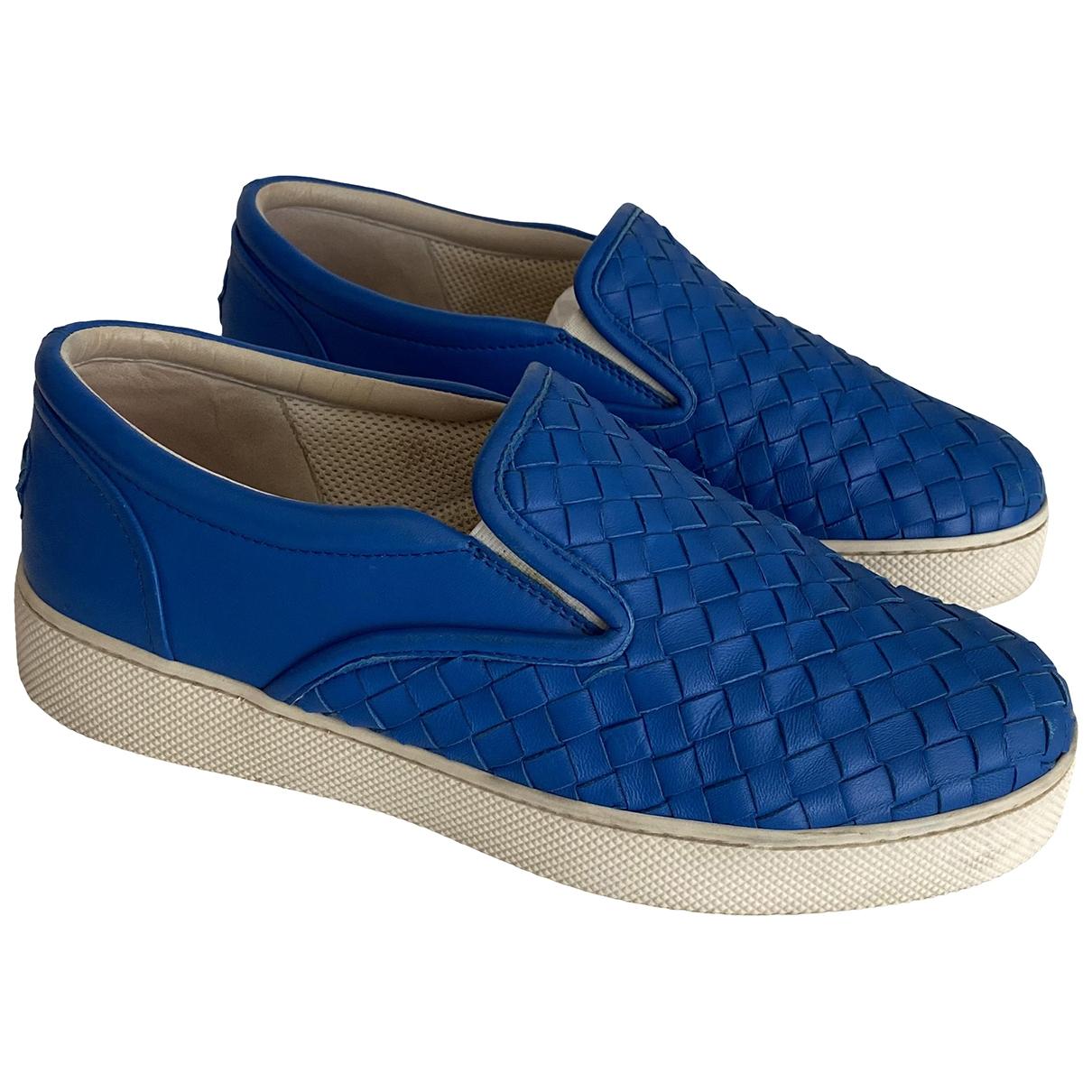 Bottega Veneta - Baskets   pour femme en cuir - bleu