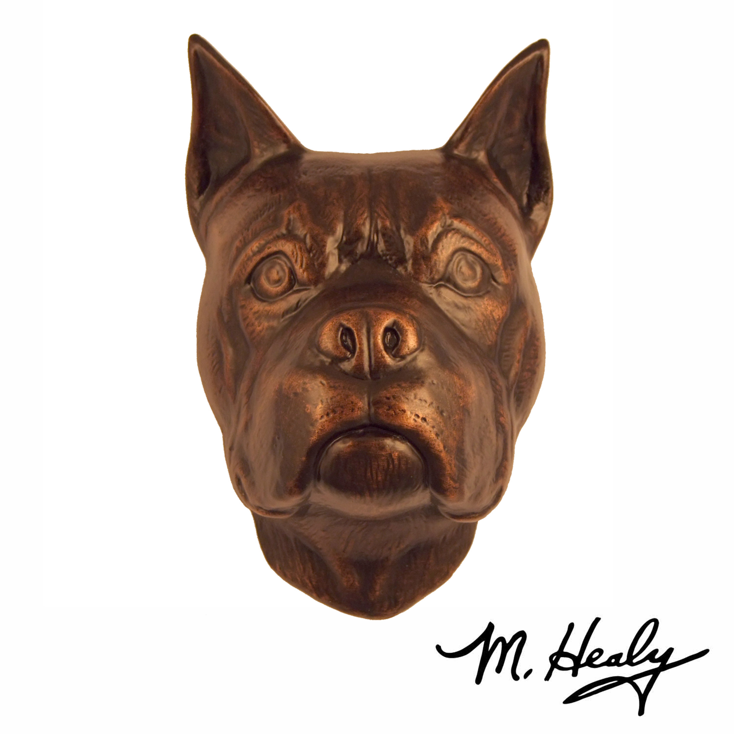 Dog Knockers Boxer Door Knocker, Bronze