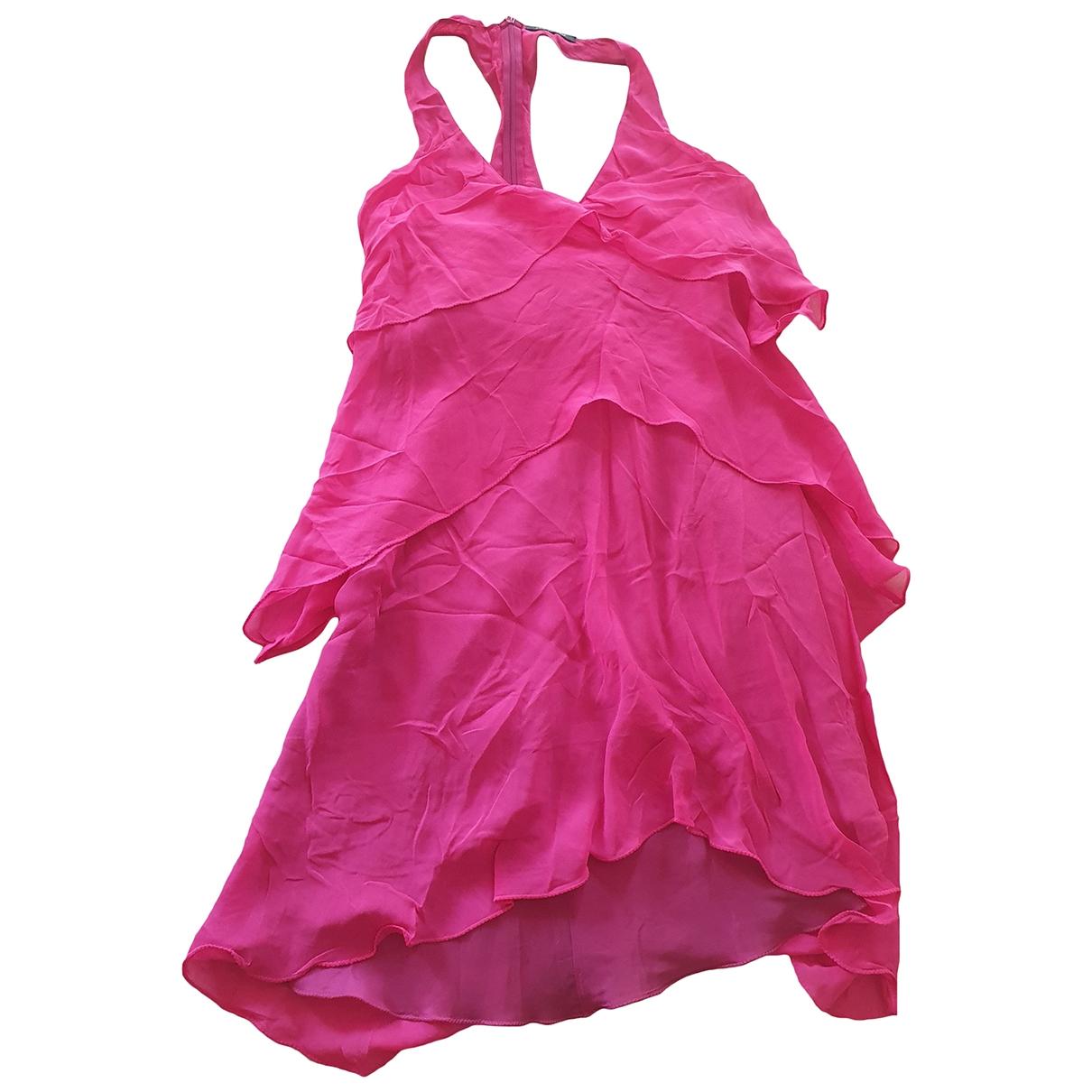 Patrizia Pepe \N Kleid in  Rosa Viskose