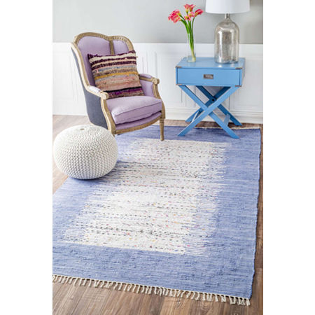 nuLoom Flatweave Tasha Cotton Rug, One Size , Blue