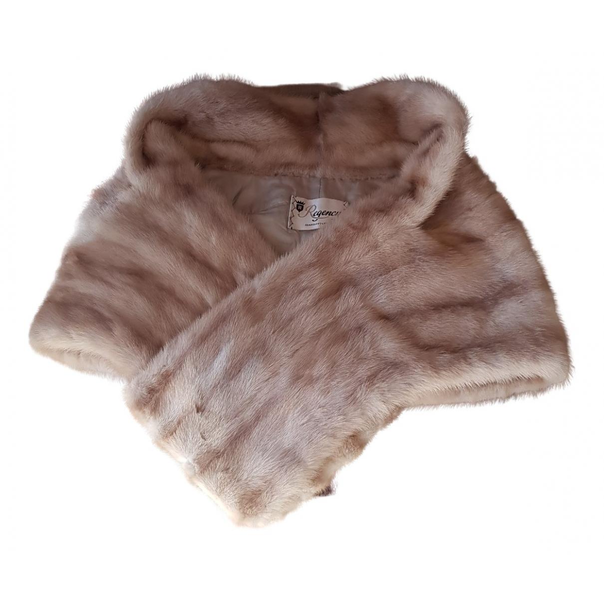- Manteau   pour femme en vison - beige