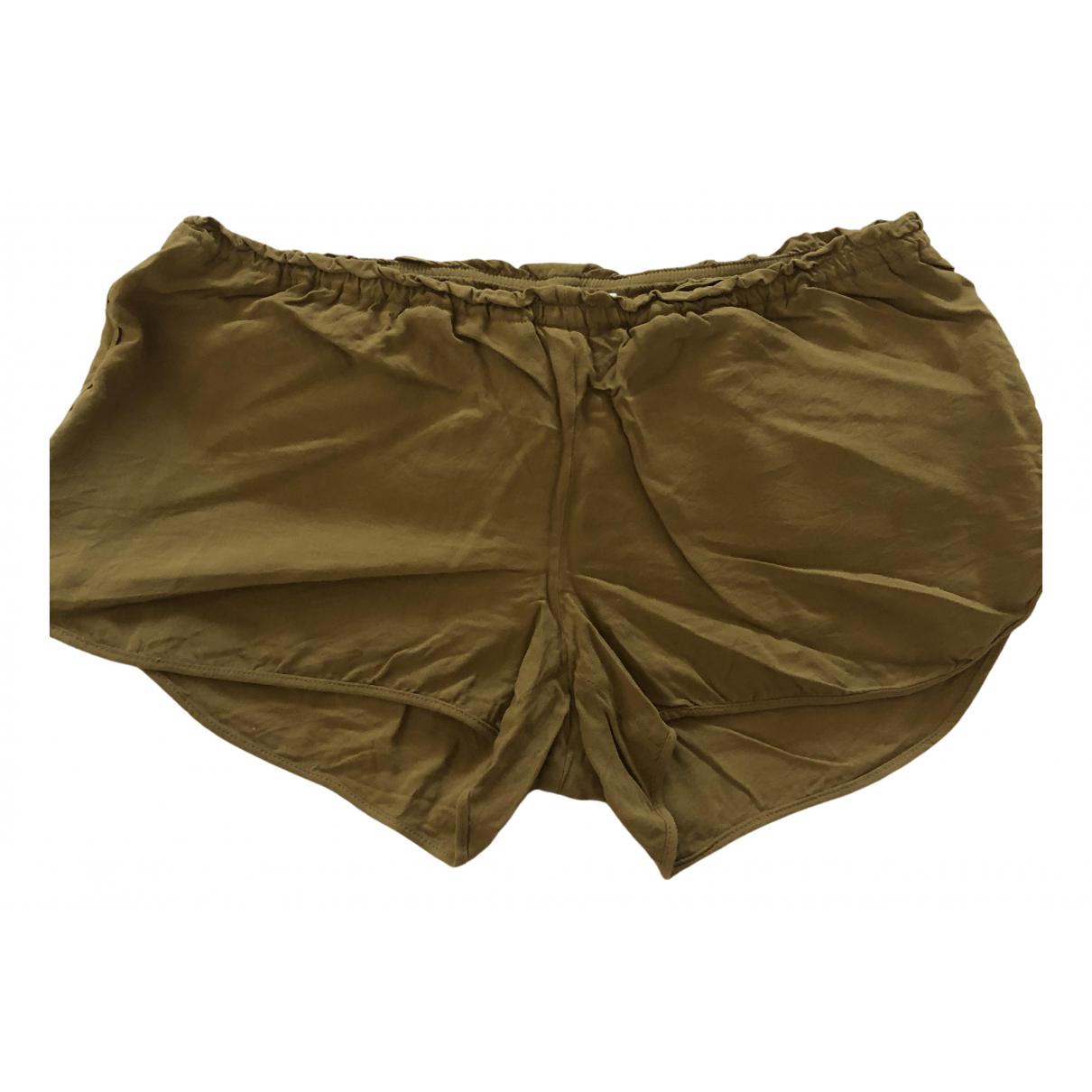 Nanushka \N Camel Cotton Shorts for Women M International
