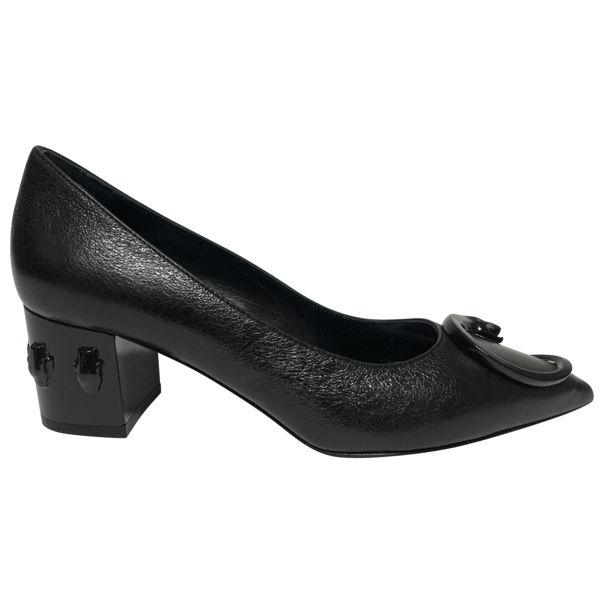Class Cavalli - Escarpins   pour femme en cuir - noir