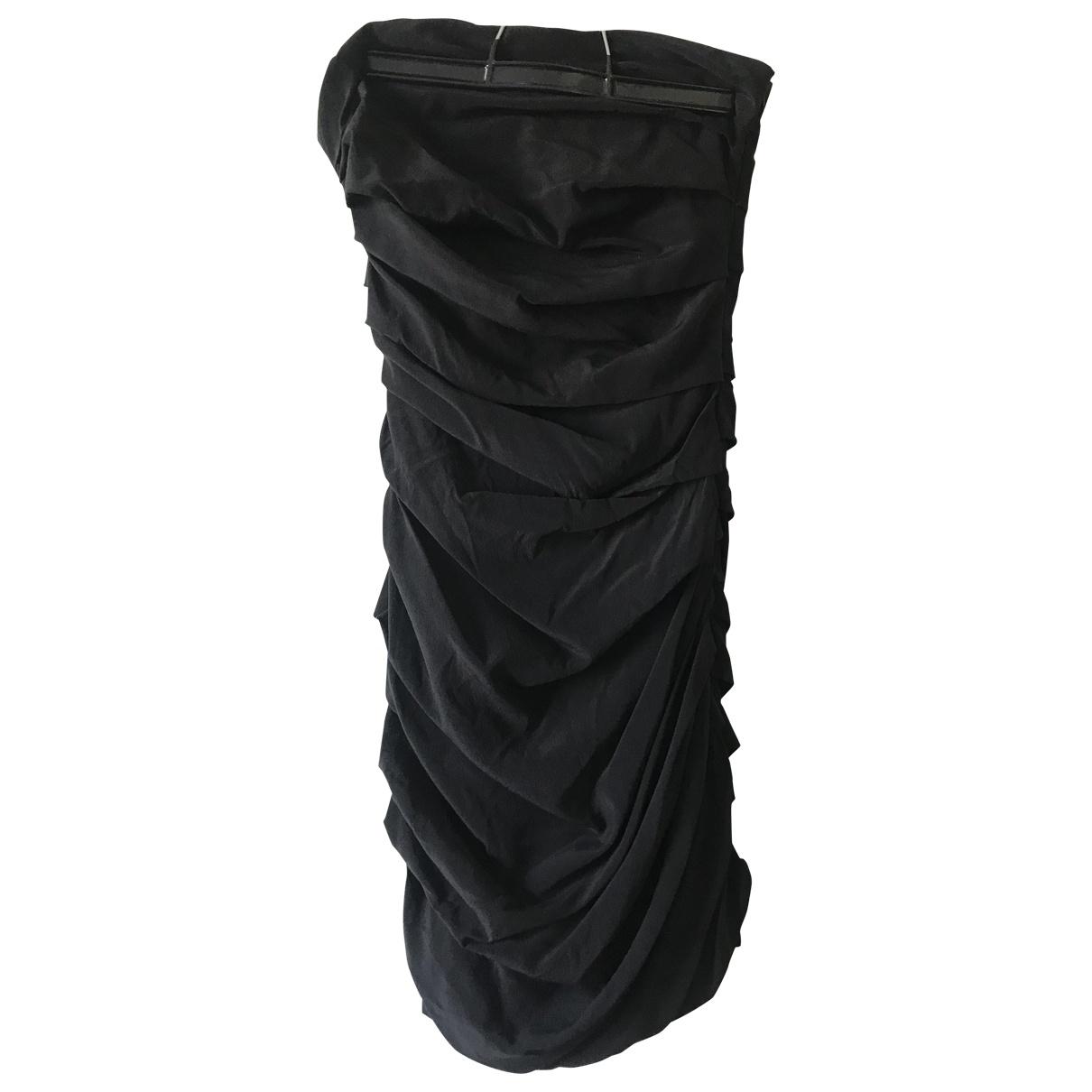 Maje \N Black Silk dress for Women 34 FR