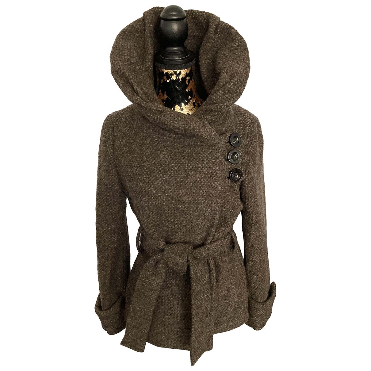 Zara N Brown Wool coat for Women L International