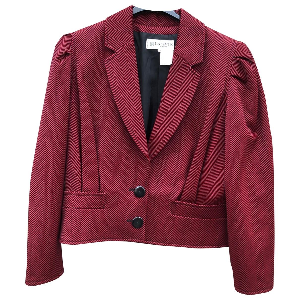 Lanvin \N Jacke in  Rot Wolle