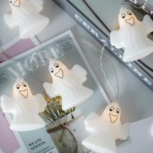 1pc 2m String Light With 10pcs Ghost Bulb