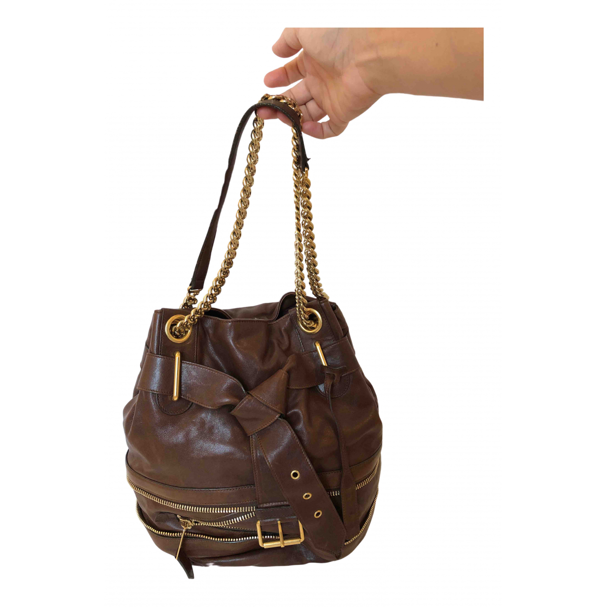Alexander Mcqueen N Brown Leather handbag for Women N