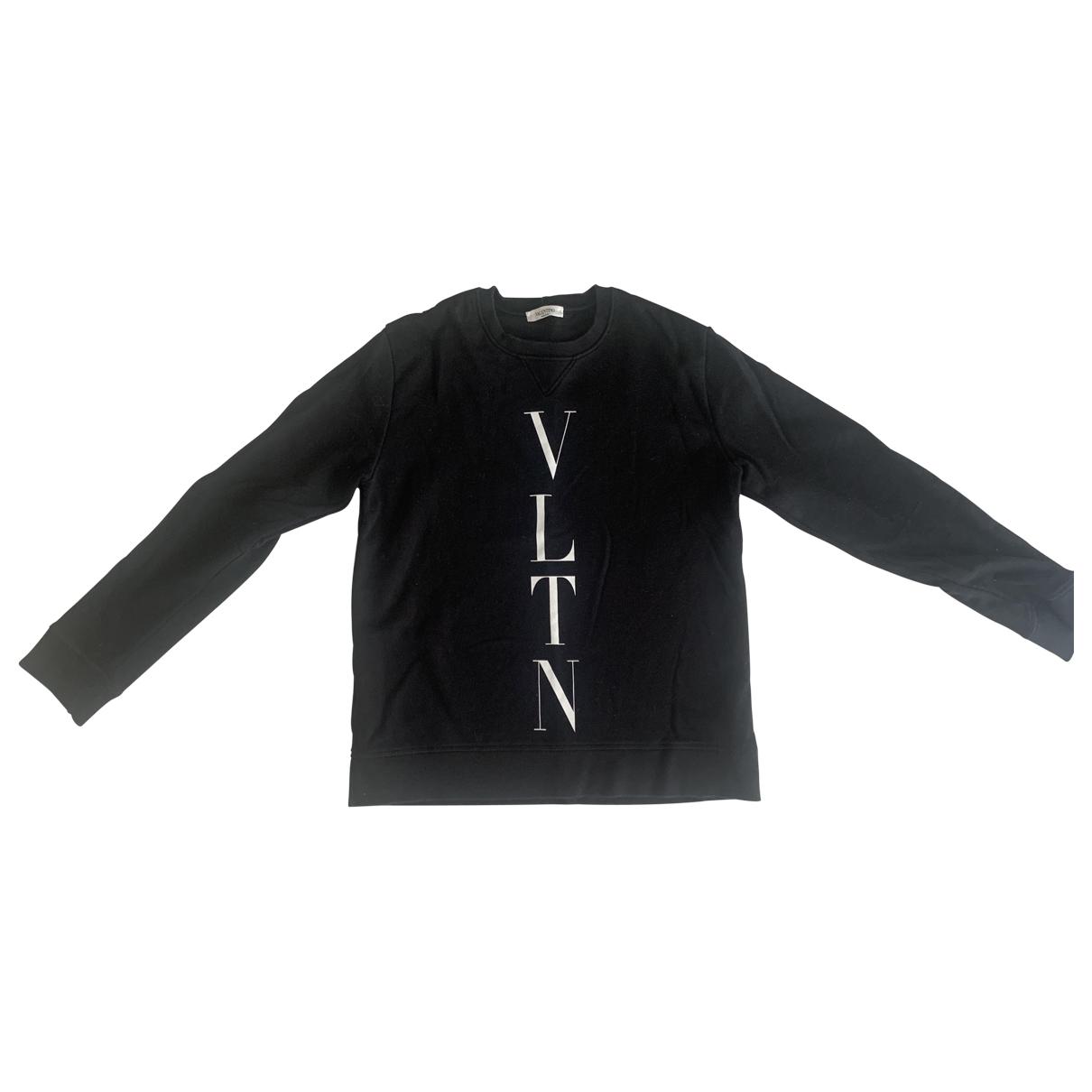 Valentino Garavani \N Pullover.Westen.Sweatshirts  in  Schwarz Baumwolle
