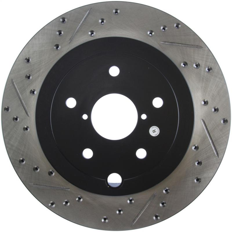 StopTech 127.47030R Sport Drilled/Slotted Brake Rotor; Rear Right Subaru STI Rear Right 2015-2016
