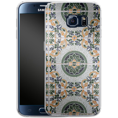 Samsung Galaxy S6 Silikon Handyhuelle - Yellow and Green Tiles von Omid Scheybani