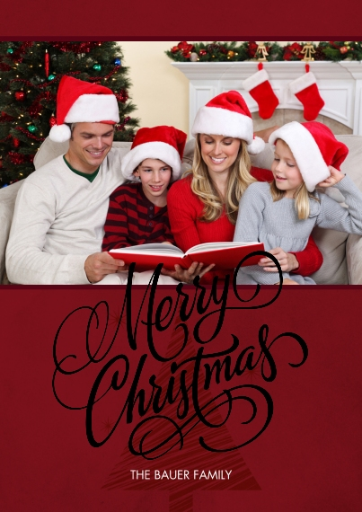 Christmas Photo Cards Set of 20, Premium 5x7 Foil Card, Card & Stationery -Merry Christmas Gold