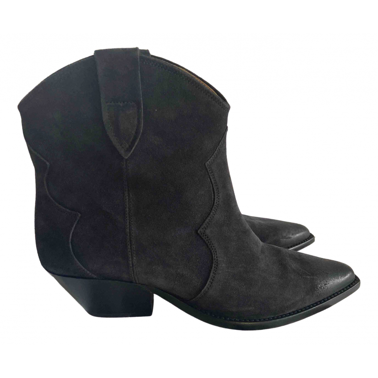 Isabel Marant \N Black Suede Boots for Women 39 EU