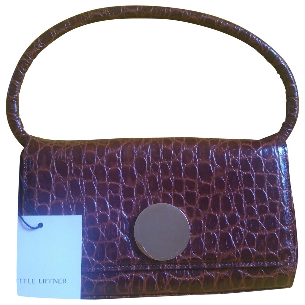 Little Liffner \N Handtasche in  Braun Leder